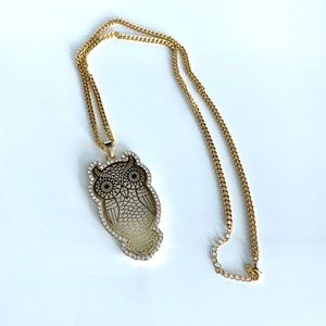 GORGEOUS owl long necklace brand new